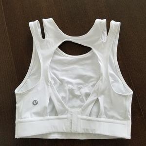 Lululemon White Open back Bra